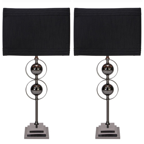 EC World Imports Casa Cortes Loft Obsession 25'' H Table Lamps with Rectangular Shade (Set of 2)
