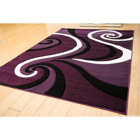 Cheap Purple Carpet (Rug Legend Modern High Quality Hand Carved Area Rug 5x7 Carpet 327)