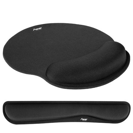 (Upgraded) Mouse Pad, MAD GIGA Ergonomic Pad, Mousepad with Wrist Support, Wrist Support for Computer, Large Memory Foam Mousepad Wrist Set, Laptop Arm Wrist Cushion for Keyboard,