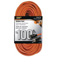 Powerzone OR501635 Tungsten Quartz Double Ended Extension Cord, 16/3, 100 ft, Double