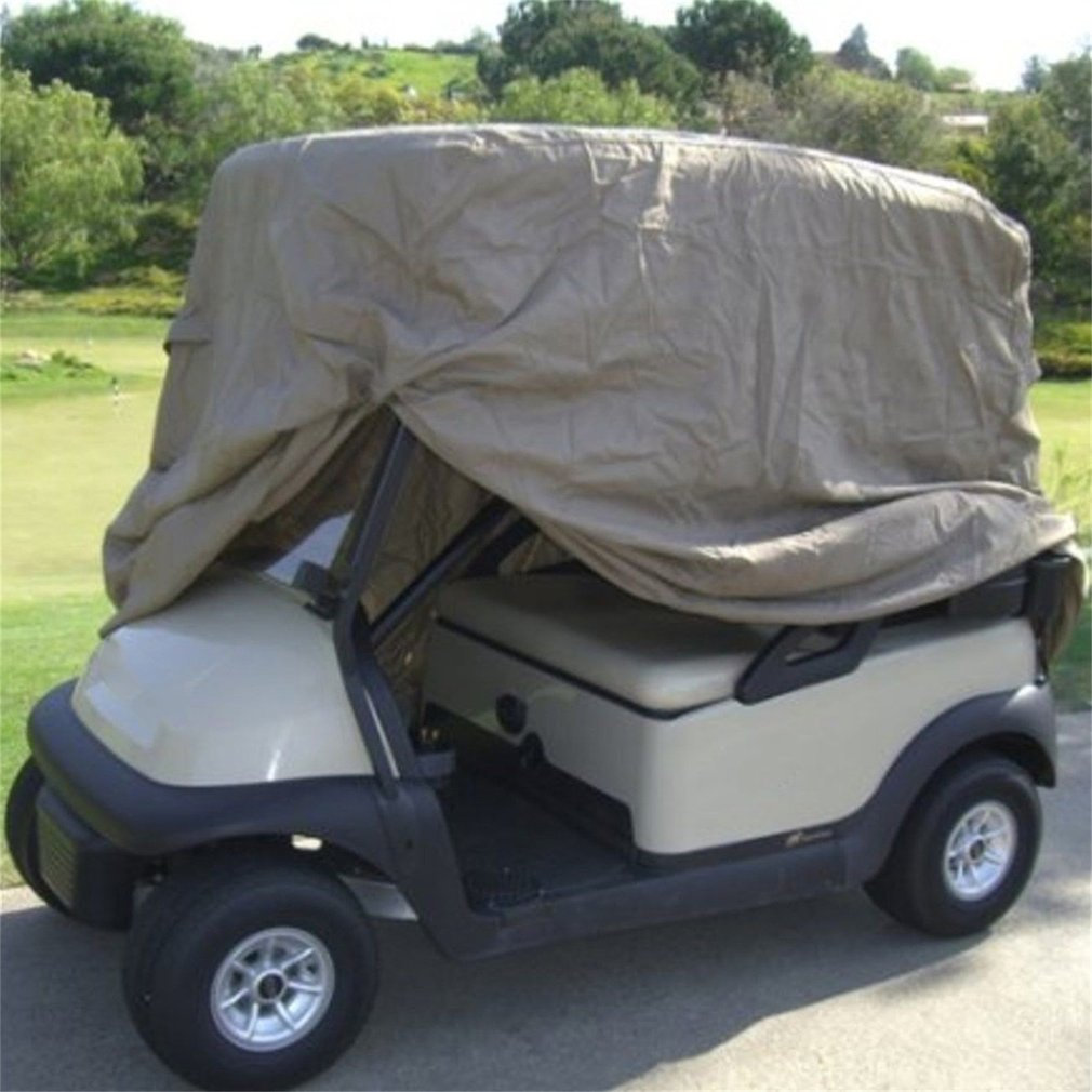 High Quality Waterproof 4 Passengers Car Detector Golf Cart Storage Cover For EZ Go Club Car Taupe for Passenger Car Club