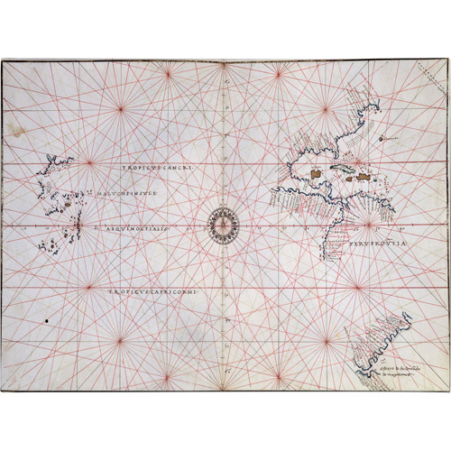 Trademark Art 'Nautical Chart of the Pacific Ocean, 1500's' Canvas Art