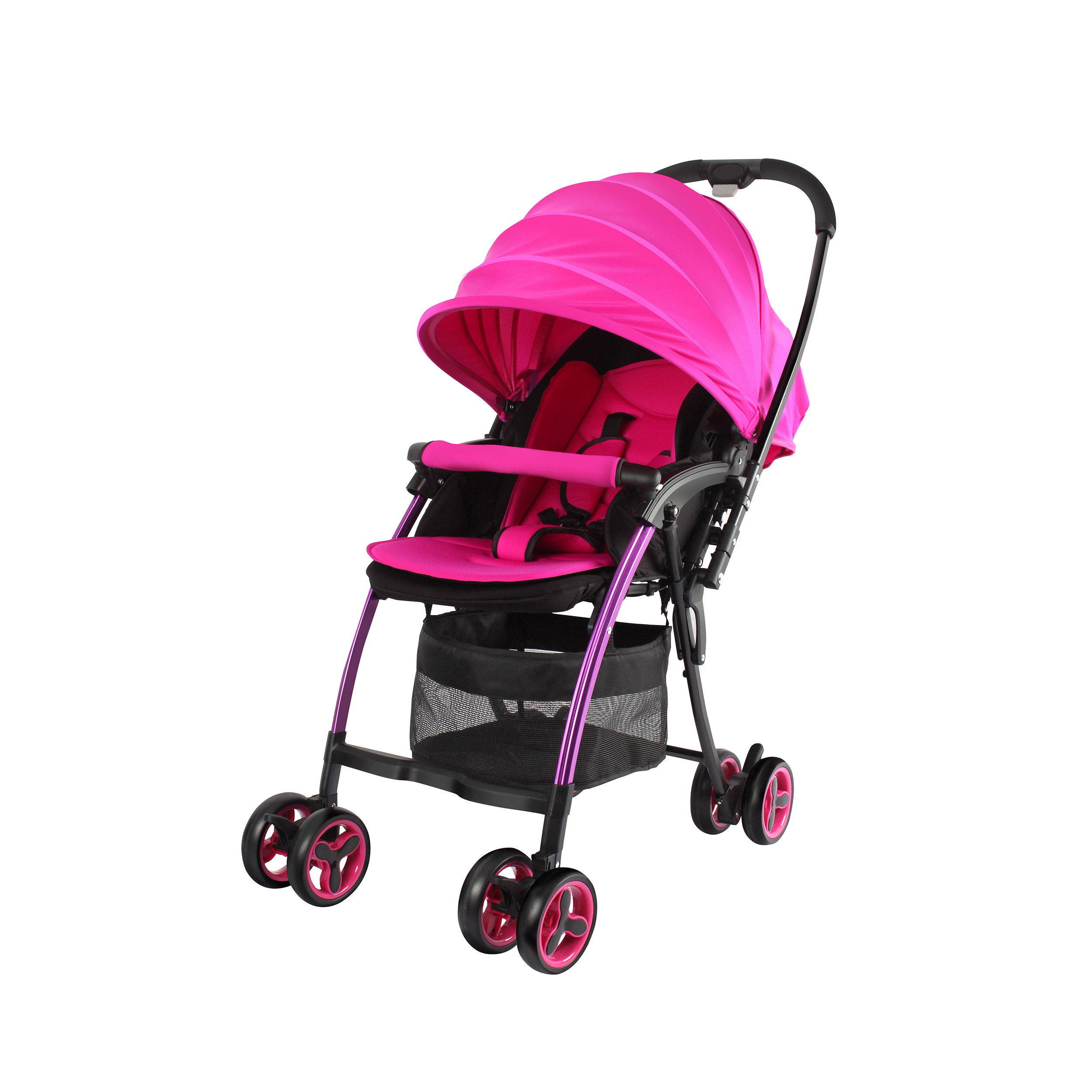 NANO Ultralight stroller with reversible handle - Pink