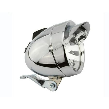 Cruiser Bike Lights - Bullet Light W/Visor 2/Bulb Chrome. Bike light, bicycle light, lowrider , beach cruiser, chopper, limo, stretch bike