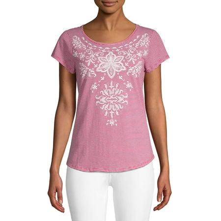 Women's Puff Print Short Sleeve T-Shirt