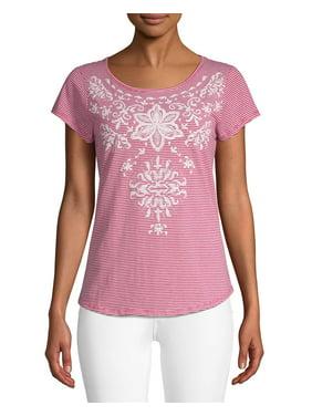 8a60ef80 Product Image Women's Puff Print Short Sleeve T-Shirt