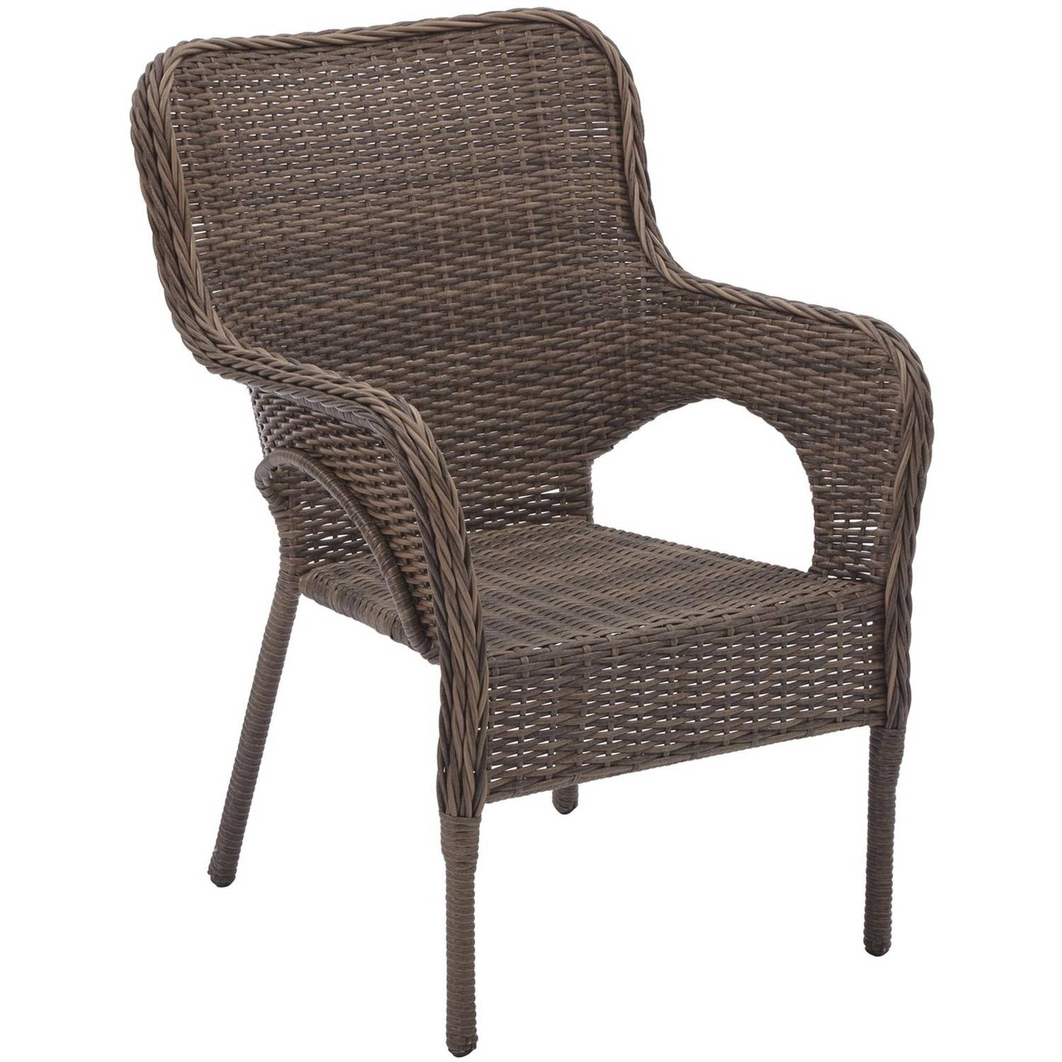 better homes and gardens camrose farmhouse mix and match stacking wicker chairs set of 2 walmartcom