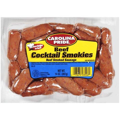 Carolina Pride Smoked Beef Cocktail Smokies, 14 oz