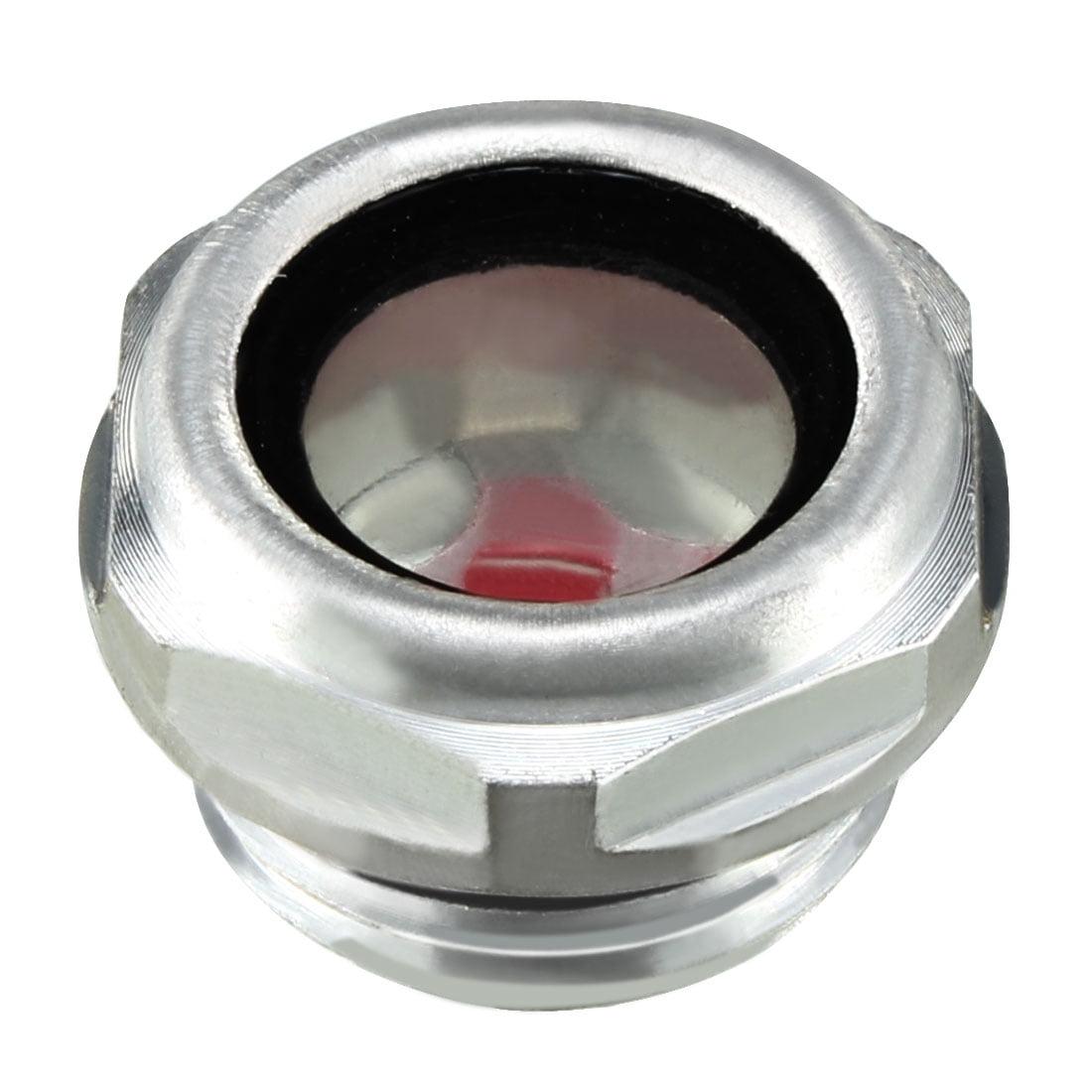 "Unique Bargains Air Compressor O Ring 1/2""PT Thread Oil Level Sight Glass"