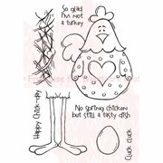 """Woodware Clear Stamps 3.5""""X5.5""""-No Spring Chicken"""
