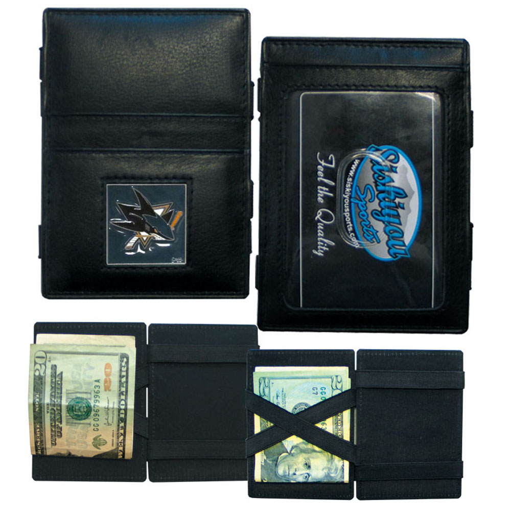 San Jose Sharks Leather Jacob's Ladder Wallet (F)