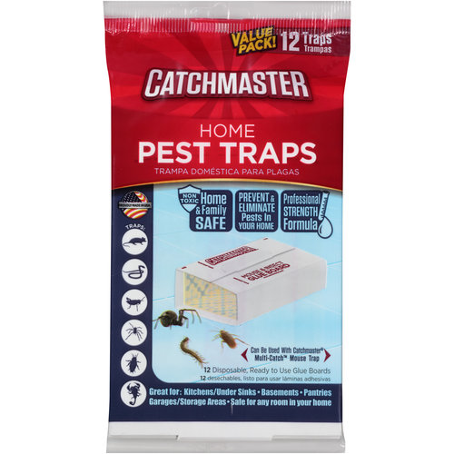Catchmaster Home Pest Traps Glue Boards, 12 count