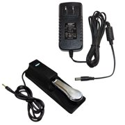 HQRP AC Adapter & Sustain Pedal for Williams Allegro / Allegro 2 / Legato Keyboards