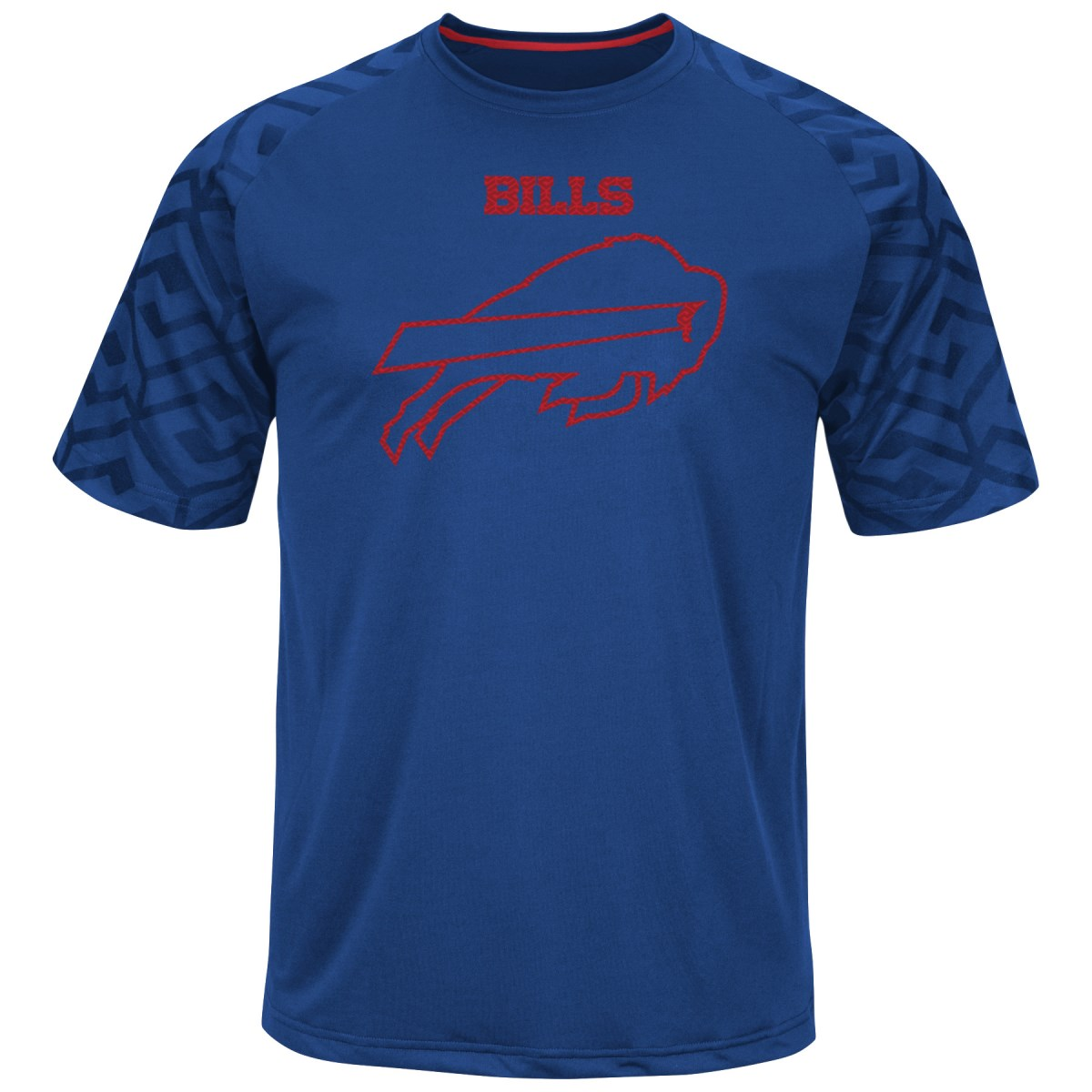 "Buffalo Bills Majestic NFL ""Skill in Motion"" Men's Cool Base T-Shirt by Majestic"