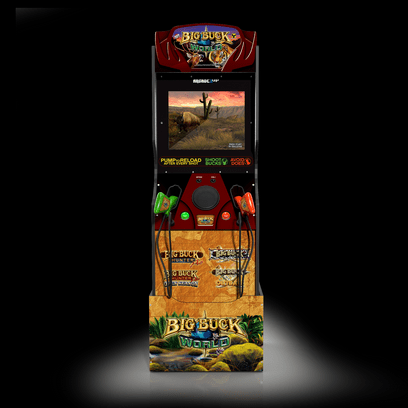 """Arcade1Up Big Buck World with Riser and 2 """"Light Gun"""" Rifles"""