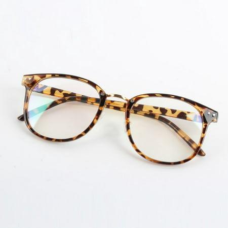 Women Men Classic Eyeglass Frames Eyewear Optical Plain Clear lens (Plain Lense Glasses)