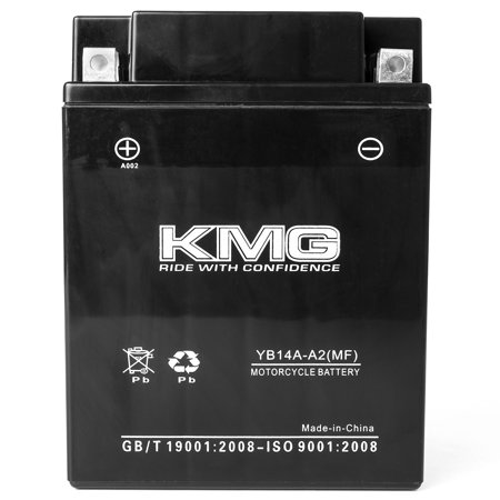 KMG 12 Volts 14Ah Replacement Battery for Polaris ATV - All Models 1995-2002 - image 2 de 3