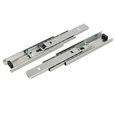 Uxcell 6-inch Length 3 Sections Telescoping Ball Bearing Damper Drawer Slides 2pcs