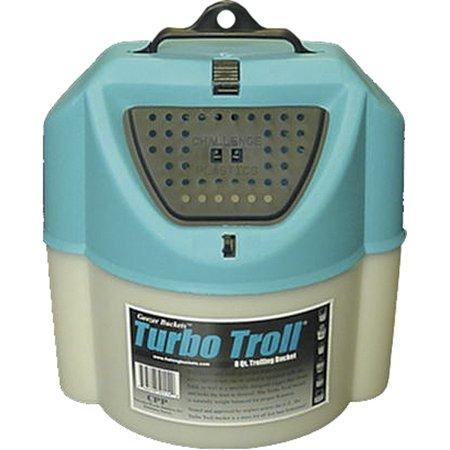 Challenge Plastics Turbo Trolling Bait Bucket 8Q, Blue 50114