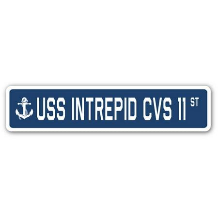Uss Intrepid Cvs 11 Street Sign Us Navy Ship Veteran Sailor Gift