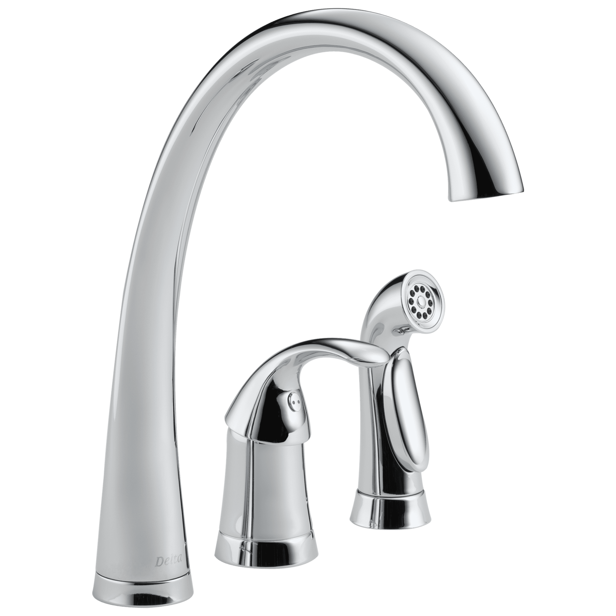 Delta Pilar Single Handle Kitchen Faucet with Spray, Chrome