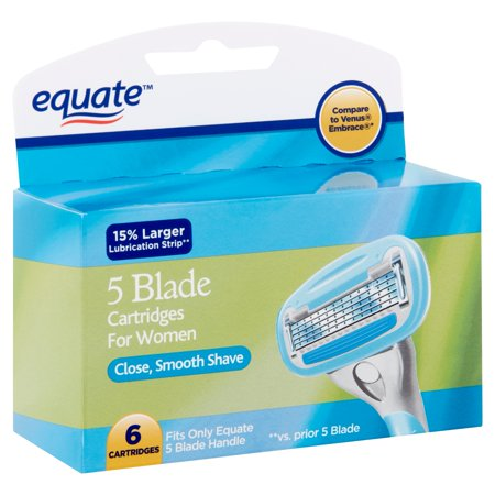 Equate 5 Blade Cartridges for Women, 6 count