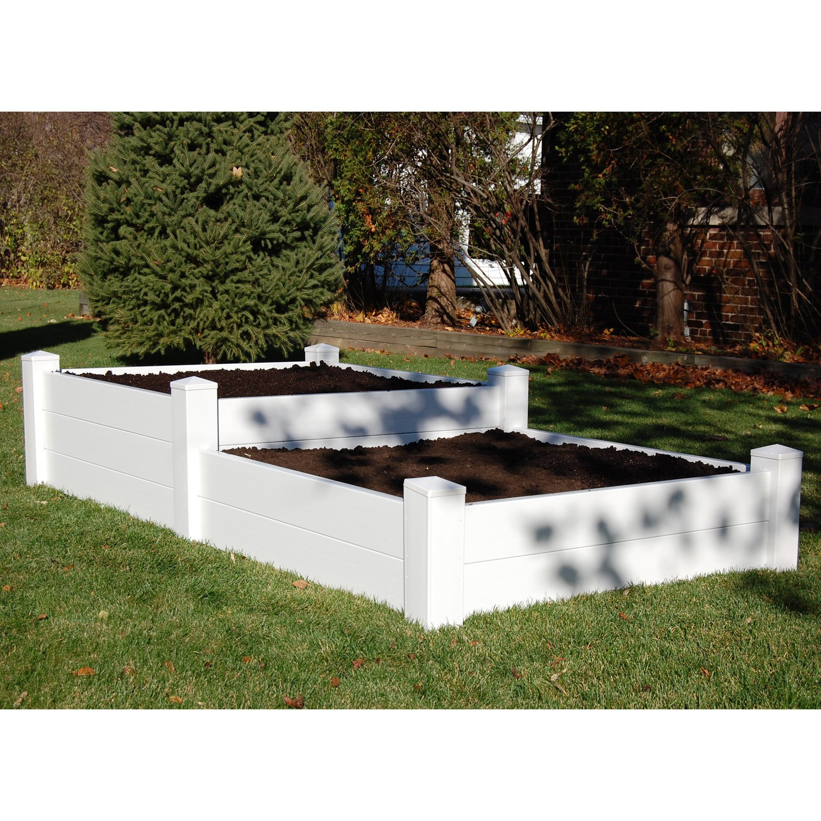 Dura-Trel 4 x 8 Rectangle Split Level Raised Planter Bed by Dura-Trel Inc