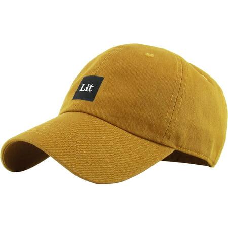 de5476856d8 Lit Patch Dad Hat Baseball Cap Polo Style Adjustable - Walmart.com