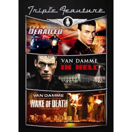 jean-claude van damme triple feature (derailed / in hell / wake of (Jean Claude Van Damme Expendables 2 Sunglasses)