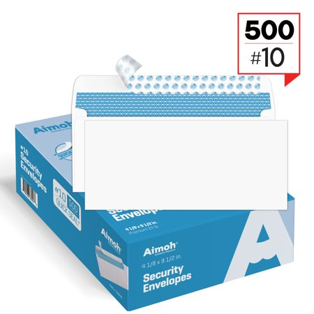#10 Security Tinted Self‐Seal Windowless Envelopes ‐ 4‐1/8 x 9‐1/2 - 500 Count (34010)