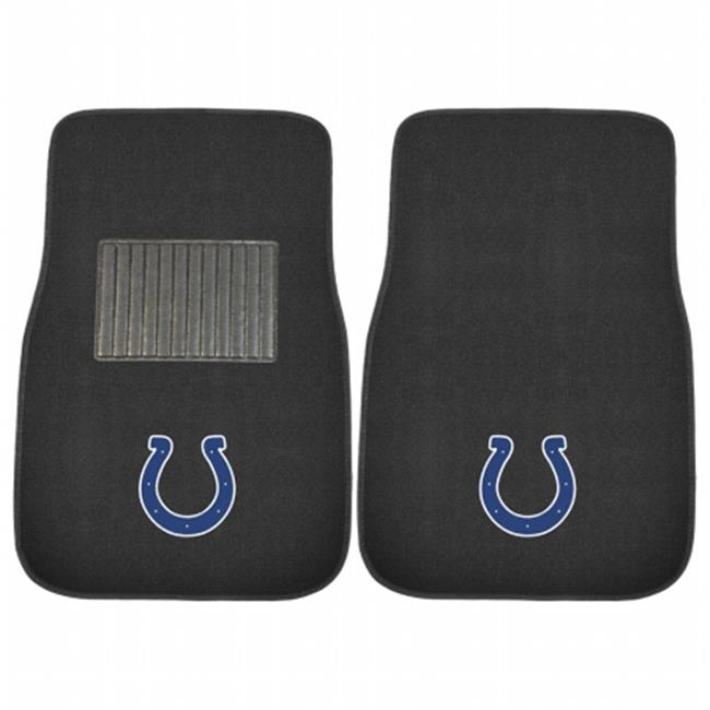 Indianapolis Colts NFL Embroidered Car Mat Set, 2 Piece