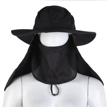Man Woman Visor Hat UV Protective Face Neck Cover Fishing Sun Protect Cap