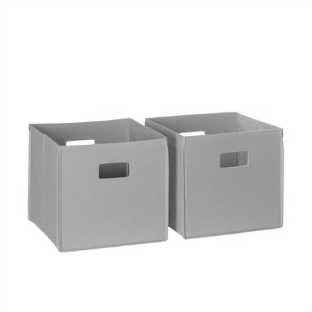 RiverRidge 2 Pc Folding Storage Bin Set - Gray