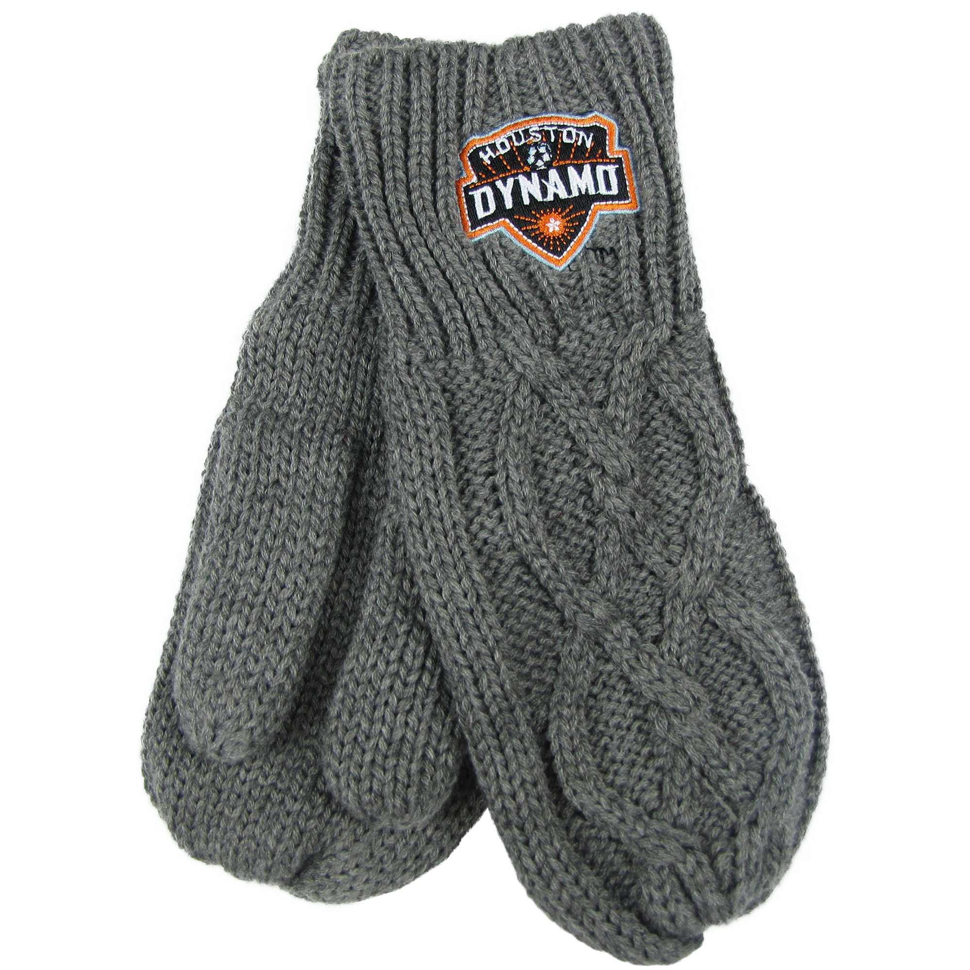 Houston Dynamo ZooZatz Women's Cable Knit Mittens - Charcoal - No Size