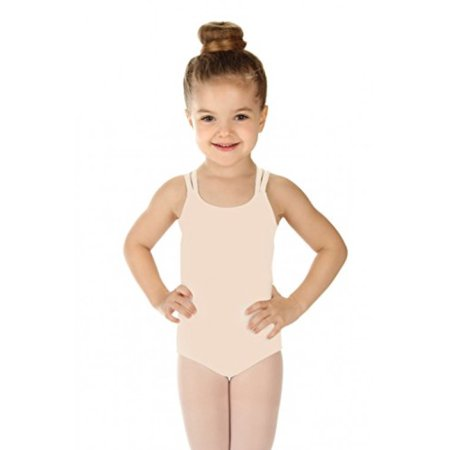 Elowel Girls' Double Strap Camisole Leotard Nude Pink (size 6-8 ) ()
