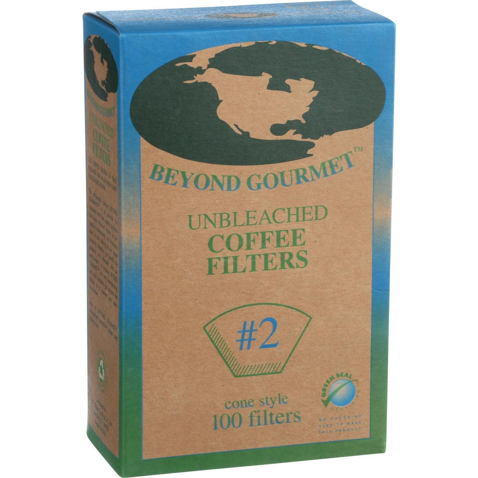 Beyond Gourmet Coffee Filters Cone Unbleached Number 2 100 Count by Beyond Gourmet