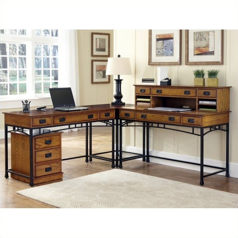 Home Styles Modern Craftsman Computer Desk with Keyboard Tray