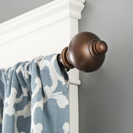 Kenney Lewis Window Curtain Rod, 3/4
