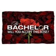 Bachelor Rose Petals Fleece Blanket White 48X80