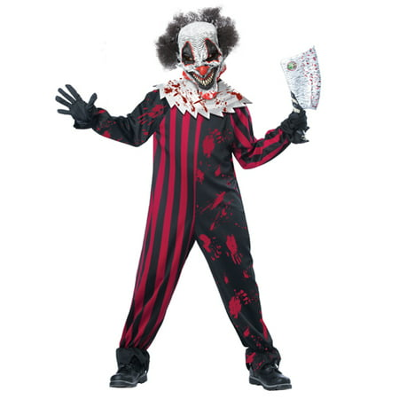 Kids Killer Klown Boys Horror Halloween Costume - Halloween Horror Nights Costume Rules