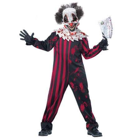 Kids Killer Klown Boys Horror Halloween Costume](Funny Teen Boy Costumes)