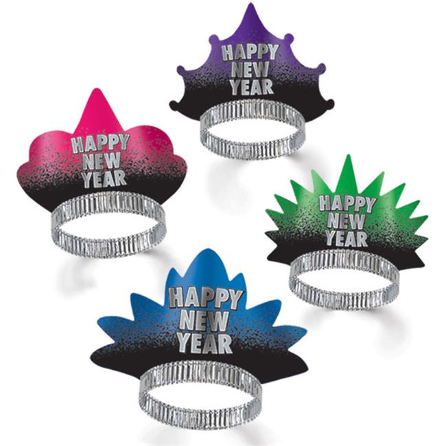 Bulk Buys New Year Resolution Tiaras -  Case of 150