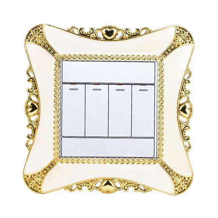 Home Switch Cover Square Shape Switch Wall Light Socket Stickers Room Decor (Best Light Switches And Sockets)