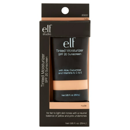 e.l.f. Cosmetics Tinted Moisturizer, SPF 20, Nude, 0.88 fl - Normal Skin Tinted Moisturizer