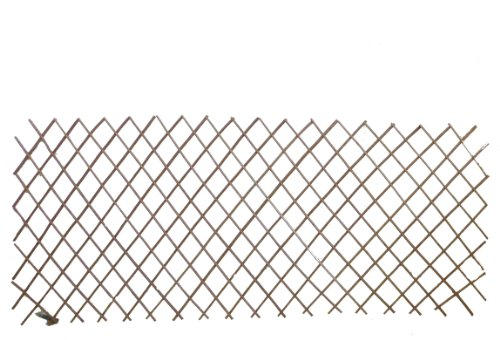 MGP Master Garden Products No Bark Carbonized Willow Expandable Fence, 48  By 72 Inch