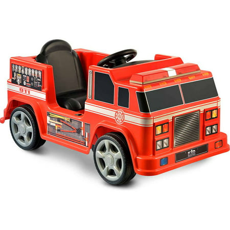 Kid Motorz Fire Engine 6-Volt Battery-Powered Ride-On, Red