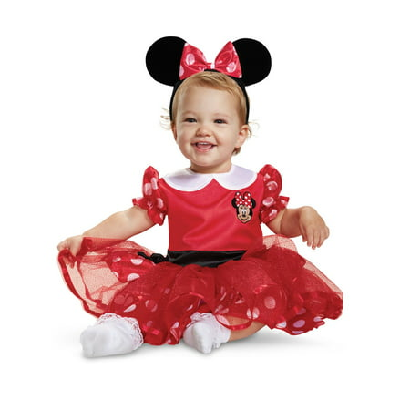Mickey Mouse Red Minnie Mouse Infant Costume (Adult Mickey And Minnie Costumes)