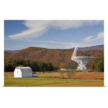 Great Big Canvas Walter Bibikow Poster Print Entitled West Virginia  Green Bank  National Radio Astronomy Observatory