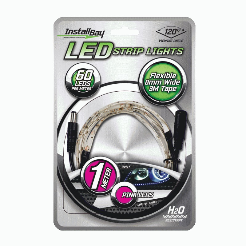 Install Bay 1MPK 1 Meter Led Strip Light - Pink - Retail Packaged