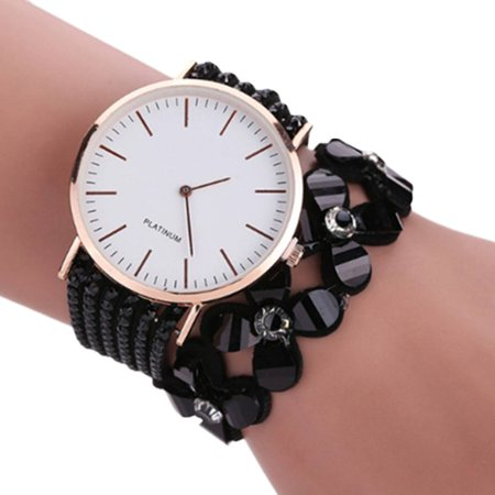 Women Casual Elegant Quartz Bracelet Watch Ladies Crystal Shiny Wrist Watch Birthday Gift